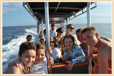 planning family tours, whale watching family boat tour in Maui Hawaii
