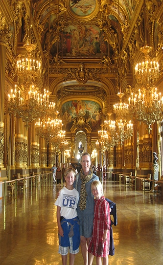 Family Visit to Opera House Paris France